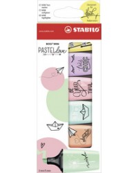 Stabilo Surligneur BOSS MINI, Pastel love, étui de 6, 07/06-27