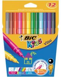 Bic kids Feutre de coloriage, VISA, étui de 12 en carton, 888695