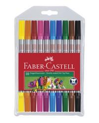 Faber Castell Feutres, Double pointe, étui de 10, 151110