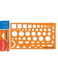 Maped Gabarit NORMOGRAPHE TECHNIC, orange, 922410