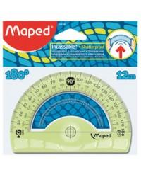 Maped Rapporteur FLEX, 180 degrès 12cm, Demi circulaire, En plastique incassable, 244180