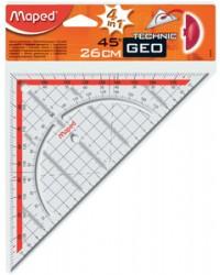 Maped Equerre de géometrie, GEO TECHNIC, 26cm, En plastique avec poignée, 028700