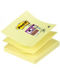 Post-it Recharge 90 notes adhésives, Z-Notes, 76x76mm, JAUNE, Super sticky, R330-12SS-CY / BP839 / 70005197796