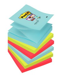 Post-it Recharge notes adhésives, Z-Notes, 76x76mm, Collection MIAMI, Super sticky, Lot de 6, R3306SMI / R330-6SS-MIA / BP948