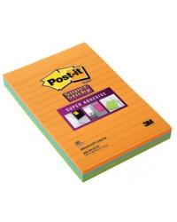 Post it Notes adhésives lignées, 2XL 101X152mm, Super sticky, Lot de 3, 4645-3SSAN / 70005039923 / BP332