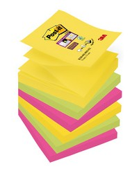 Post it Notes adhésives Z-Notes, 76x76mm, Rio de Janeiro, Super sticky, Lot de 6, R330-6SSRIO-EU / 70-0052-5133-8 / BP886