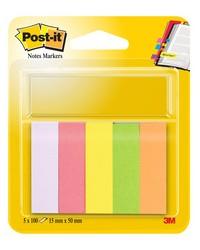 Post-it Marque pages en papier, 5 blocs de 100 feuilles NEON, 670 5 FT510114752 25126