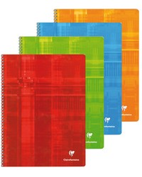 Clairefontaine Cahier à spirale, 24x32mm, Quadrillé 5x5, 100 pages petits carreaux, 8342C