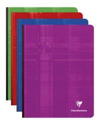 Clairefontaine Cahier 17x22mm, Quadrillé 5x5, Brochure 192 pages petits carreaux, 9742C