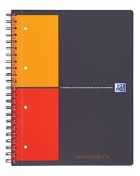 Oxford Cahier A4+, ManagerBook, 160 pages perforées, réglure projet, 400010756