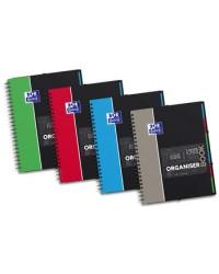 Oxford Cahier A4+, OrganiserBook, Quadrillé 5x5, 160 pages petits carreaux + TRIEUR EN FIN, 400019524