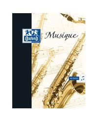 Oxford Cahier de musique A4, 48 pages, Seyès + portées, 100103088