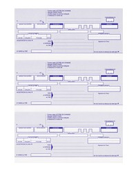 Elve Ramette de traites normalisées, Lettres de change en continu, A4 210x297mm, 524