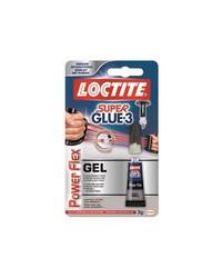 LOCTITE Colle instantanée, Super Glue 3, Gel, Power flex, 1598806/1966857