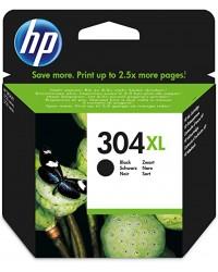 HP Cartouche à encre, 304XL Noir, Jet d'encre, N9K08AE