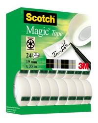 Scotch Ruban adhésif Magic 810, 19 mm x 33 m, 24 rouleaux, 8-1933R24TPR BP1050