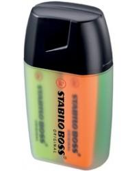STABILO Surligneur BOSS ORIGINAL, Big boss, Boite plastique rigide de 4, 7004-3