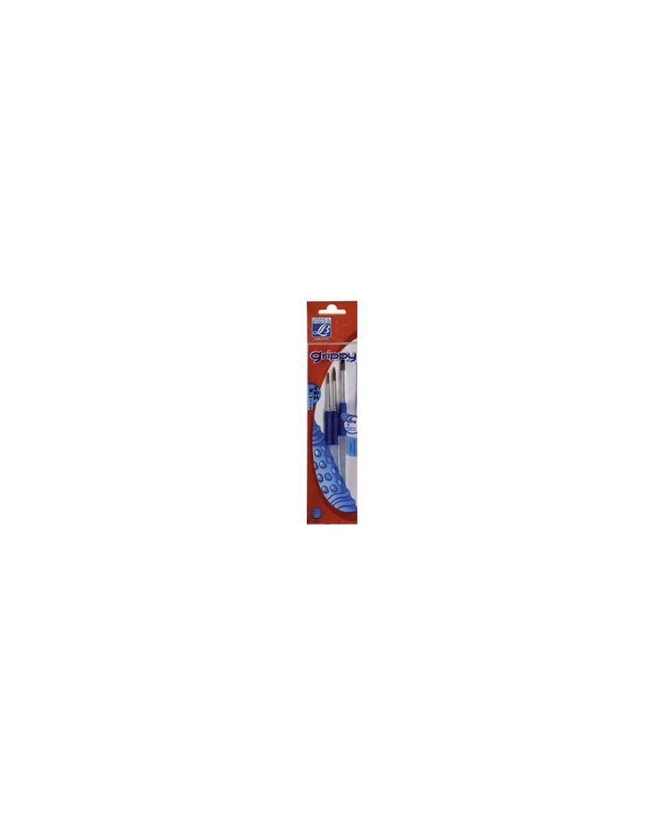 LEFRANC & BOURGEOIS Lot de pinceaux poney GRIPPY, 3 pièces, 807303