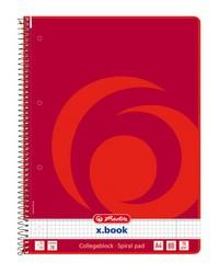 Herlitz Cahier à spirale, A4+, 160 pages, Quadrillé 5x5, Perforé, 10834117-001