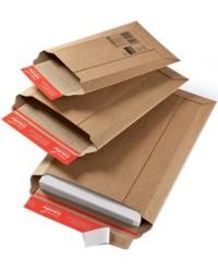ColomPac OFFICE, Pochette d'expédition en carton ondulé brun, 167 x 268 mm, CP 010.01, 30000177