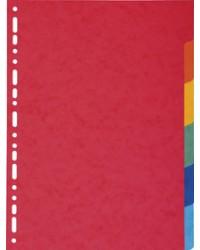 EXACOMPTA Intercalaires en carton, A4 Maxi, 6 touches, 2106E