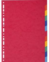 EXACOMPTA Intercalaires en carton, A4 Maxi, 12 touches, 2112E