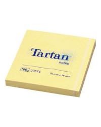 Tartan, Notes repositionnables, Jaune, 76 x 76 mm, 23079