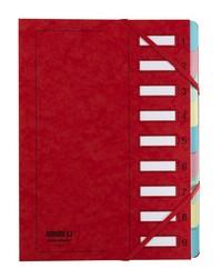Extendos Trieur à élastique série 237, 9 touches, Carte rouge, 23709