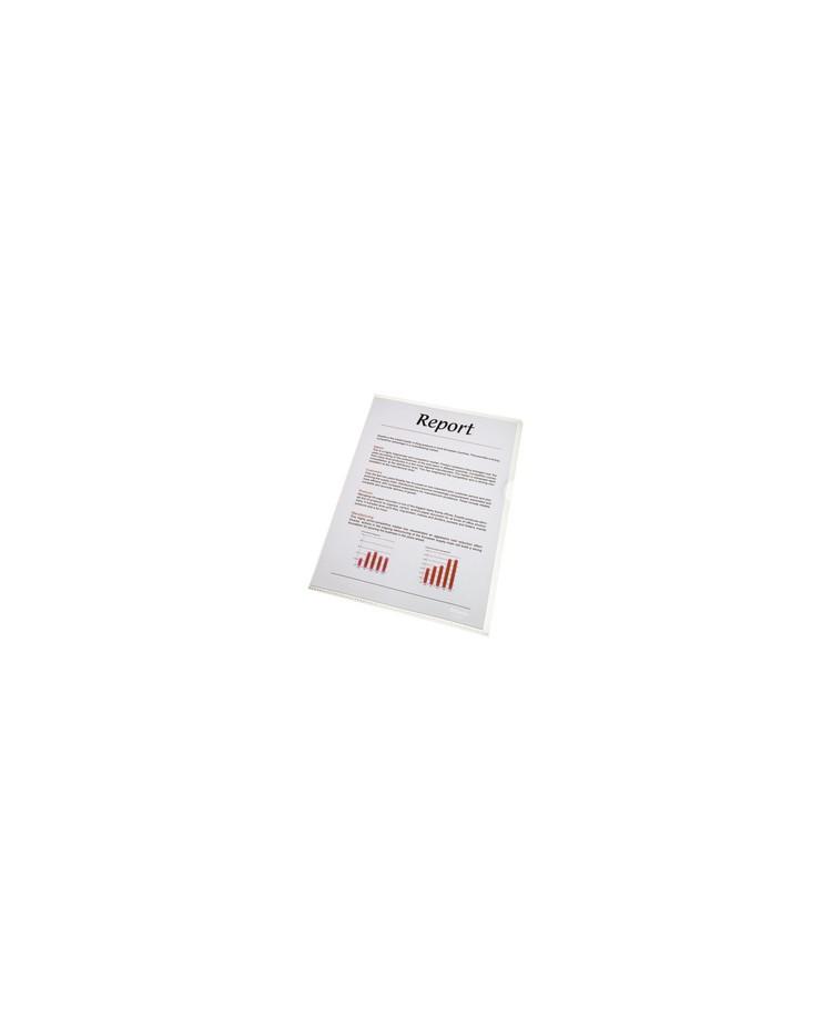 Esselte Pochettes coin Standard, A4, Polypro lisse, Transparent incolore, 56218