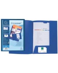 Exacompta Chemise personnalisable, Kreacover, 2 rabats, Plastique polypro, Bleu, 43502E