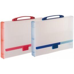 Tarifold Valisette de classement, Plastique polypro, Translucide bleu, 511401