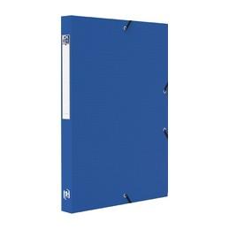 Oxford, Boite de classement, 25mm, Memphis, Plastique polypro, Bleu, 100200559