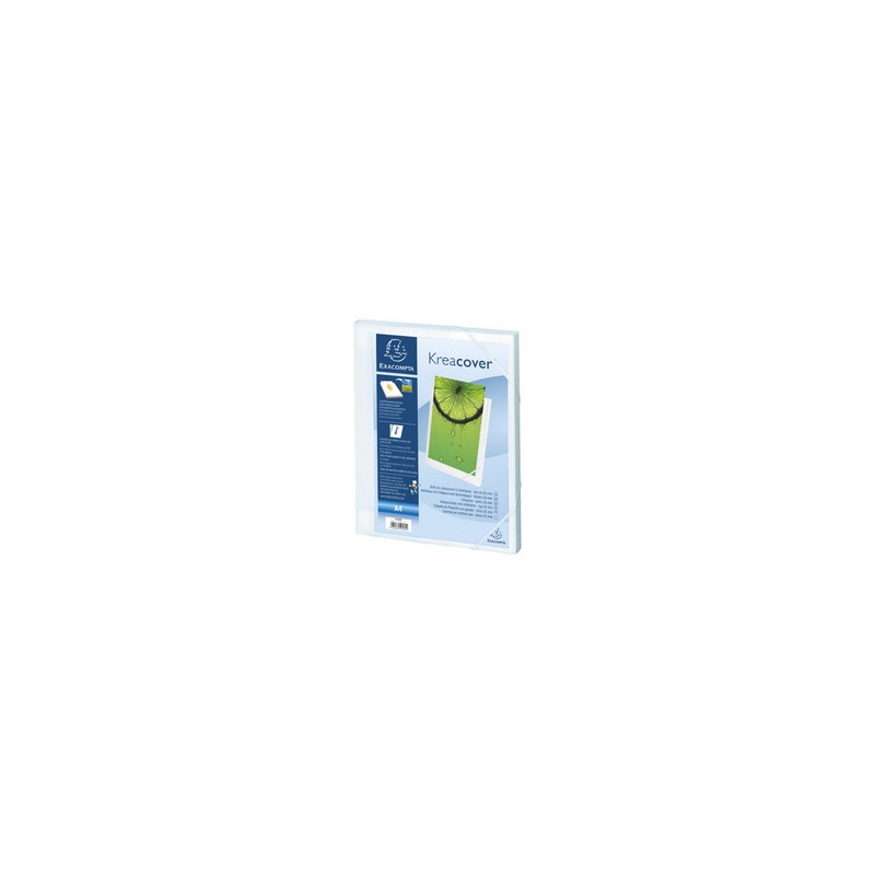 Exacompta Boite de classement personnalisable, 25mm, Kreacover, Plastique polypro, Blanc, 59589E
