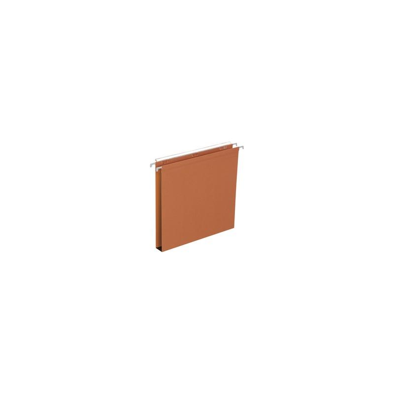 ELBA Dossiers suspendus DEFI FLEX, Tiroir, Fond 30 mm, Kraft, Orange, 400126767