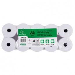 Exacompta Bobine de papier, Caisse et calculatrice, 57x60x12 mm, 33m, 1 Pli offset, 40651E