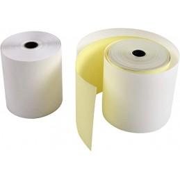 Exacompta Bobines de papier, Caisse, 76x70x12 mm, 25 m, 2 plis, Chimique autocopiant, 40358E