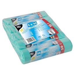 PAPSTAR Sac poubelle, HDPE, 20 litres, Vert menthe, 10 microns, Rouleau de 20 sacs, 12332