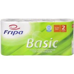 Fripa Papier toilette Basic, 2 couches, blanc, Paquet de 8 rouleaux, 1510806