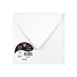 Clairefontaine Enveloppes 140x140 mm, Blanc, Carré, 120g, 5428C
