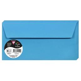 Clairefontaine Enveloppes DL, 110x220, Pollen, Bleu turquoise, 120g, 5555C
