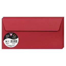 Clairefontaine Enveloppes DL, 110X220, Pollen, Rouge groseille, 120g, 5585C