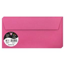 Clairefontaine Enveloppes DL, 110x220, Pollen, Rose fuchsia, 120g, 5575C