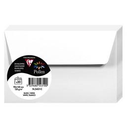 Clairefontaine Enveloppes 9x14, Pollen, Blanc, 120g, 5431C