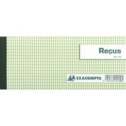 EXACOMPTA Carnet à souche, Reçus, 90 x 130 mm horizontal, 10E