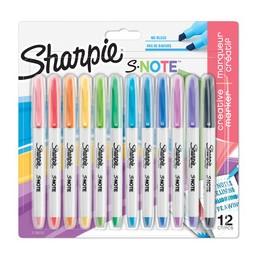 Sharpie Marqueur Surligneur, Créatif S-NOTE, Blister de 12, 2138233