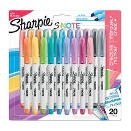 Sharpie Marqueur Surligneur, Créatif S-NOTE, Blister de 20, 2139179
