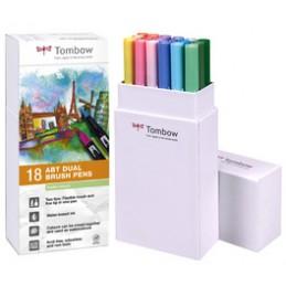Tombow, Feutre double pointe, DUAL BRUSH PEN ABT, Tons pastel, ABT-18P-5