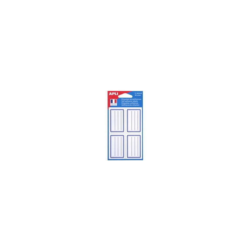 Agipa, Etiquettes scolaires, Pour livres et cahiers, Blanc Bleu, 36 x 56 mm, Lignées, 011277