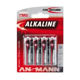 Ansmann, Piles alcaline, RED, Mignon AA, Blister de 4, 5015563