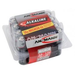 Ansmann, Piles alcaline, RED, Mignon AA, LR6, 1.5V, Blister de 20, 5015548